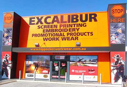 Excalibur Printing Shop Front